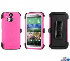 Otterbox Defender Series Shell Case for HTC One M8 -- (Neon Rose Pink)