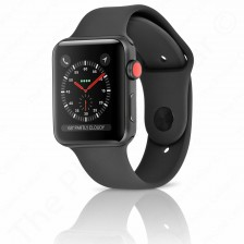 Apple Watch Sport Series 3 | 42mm - LTE Cellular - MQK92LL/A | (Space Gray/Aluminum Black)