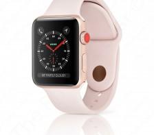 Apple Sport Watch Series 3 | 42mm - LTE Cellular (Gold Aluminum/Pink Sand Sport Band)