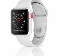 Apple Watch Series 3 42mm Silver Aluminum Case with Fog Sport Band GPS Cellular